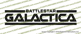 Battlestar Galactica 1978 Credits Vinyl Die-Cut Sticker / Decal VSBSG1978