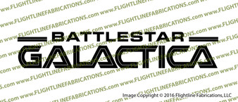 Battlestar Galactica Credits Vinyl Die-Cut Sticker / Decal VSBSG2004
