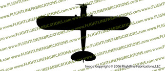 WWII L-4 Grasshopper Light Observation Aircraft Top Vinyl Die-Cut Sticker / Decal VSTL4G
