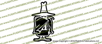 F-4 Phantom Spook with Finger Vinyl Die-Cut Sticker / Decal VSFF4SPOOK1