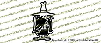 F-4 Phantom Spook with Finger Vinyl Die-Cut Sticker / Decal VSFF4SPOOK1