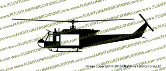 """Bell UH-1H """"Huey"""" Iroquois U.S. Military Helicopter Profile Vinyl Die-Cut Sticker / Decal VSPUH1H"""