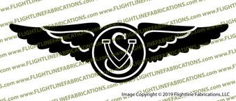 1940 Vought Sikorsky Wings F4U-1 Corsair Vinyl Die-Cut Sticker / Decal VSVSW