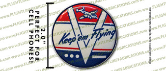 "WWII Keep 'Em Flying 2"" Full Color Printer Vinyl Sticker"