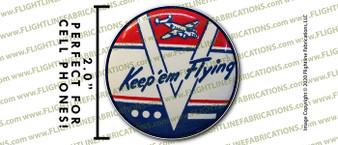 "WWII Keep 'Em Flying 2"" Full Color Printer Vinyl Sticker"