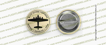 "WWII B-17 Flying Fortress Boeing Douglas Vega 1.5"" Button / Pin"