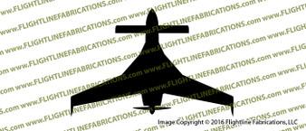 Rutan Model 61 Long-EZ Homebuilt Aircraft  Top Vinyl Die-Cut Sticker / Decal