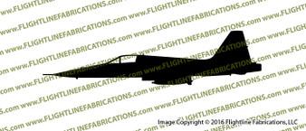 Northrop F-5 E Tiger II Supersonic Light Fighter Profile Vinyl Die-Cut Sticker / Decal