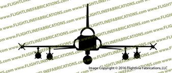 Northrop F-5 E Tiger II ( TOP GUN MIG ) Light Fighter Front Vinyl Die-Cut Sticker / Decal