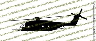 Sikorsky MH-53E Sea Dragon PROFILE Vinyl Die-Cut Sticker / Decal VSCH53E