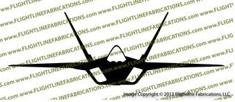 F-22 Raptor Front Vinyl Die-Cut Sticker / Decal VSF22F