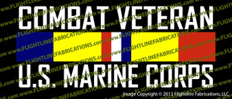Combat Veteran USMC US Marine Corps Vinyl Die-Cut Sticker / Decal VSCVCB