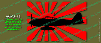 Legend Flyers A6M3 32 Japanese Zero Vinyl Die-Cut Sticker / Decal LFJZA2