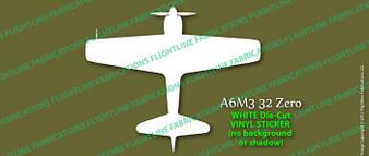 Legend Flyers A6M3 32 Japanese Zero TOP Vinyl Die-Cut Sticker / Decal LFJZT