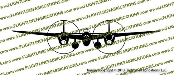 WWII Fighter P-38 Lightning Front Vinyl Die-Cut Sticker / Decal VSP38F