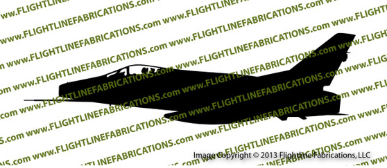 F-100 Super Sabre Profile Vinyl Sticker