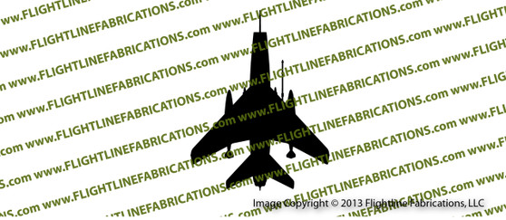 F-100 Super Sabre TOP Vinyl Sticker