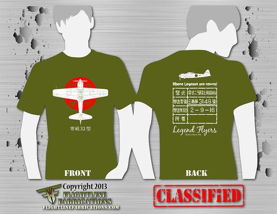 Legend Flyers A6M3 Type 32 Zero ODGREEN T-Shirt