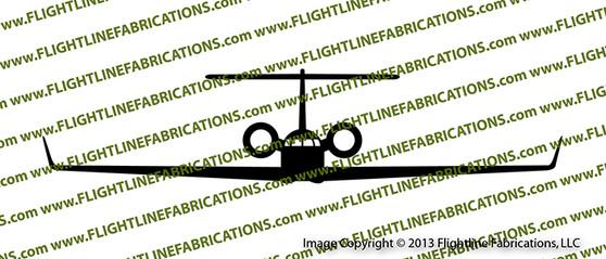 Gulfstream 500 Business Jet Vinyl Die-Cut Sticker / Decal VSFG500
