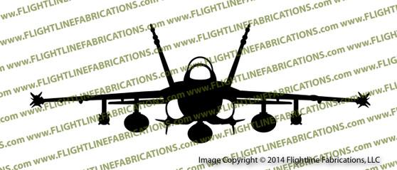 McDonnell Douglas F-18 Hornet FRONT Vinyl Die-Cut Sticker / Decal VSFF18