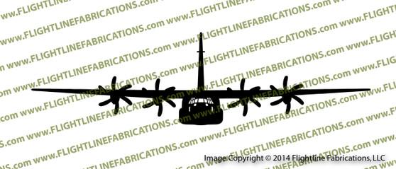 C-130J Super Hercules Transport Aircraft FRONT Vinyl Die-Cut Sticker / Decal VSFC130J