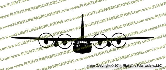 MC-130H Combat Talon II C-130 Hercules Transport Aircraft FRONT Vinyl Die-Cut Sticker / Decal VSFMC130H