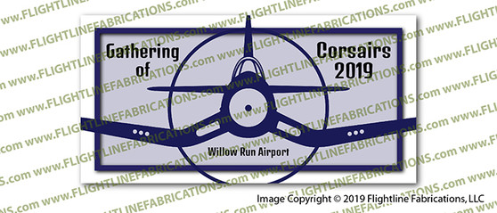 Gathering of Corsairs 2019 Willow Run Airport Full Color Vinyl printed Sticker / Decal VSGC2019