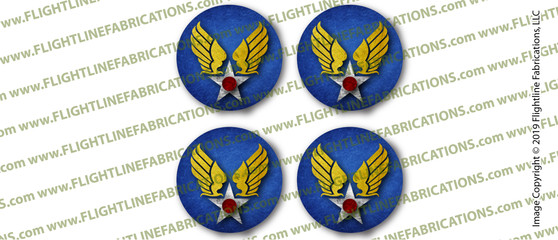 WWII US Army Air Corps Drink Coaster Set (4)