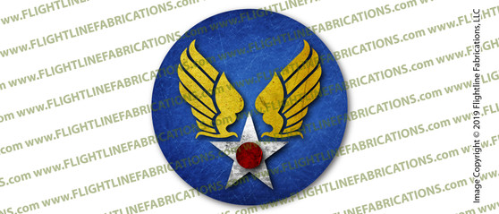 WWII U.S. Army Air Corps USAAC 3 INCH Circle