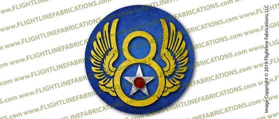 WWII U.S. Army 8th Eighth Air Force 3 INCH Circle