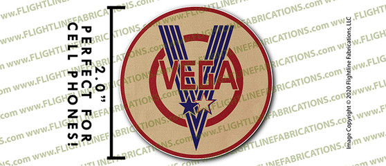 "WWII Vega B-17 Flying Fortress Factory 2"" Full Color Printer Vinyl Sticker"