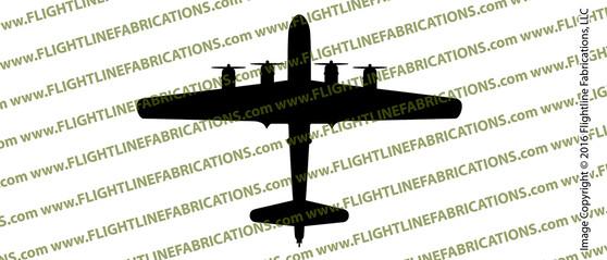 Boeing B-29 Superfortress WWII Bomber Top Vinyl Die-Cut Sticker / Decal VSB29T