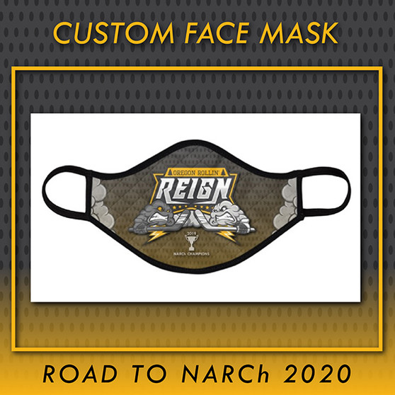 Oregon Rollin' Reign Custom Face Mask (KID)