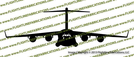 C-17 Globemaster Front Vinyl Die-Cut Sticker / Decal VSC17F