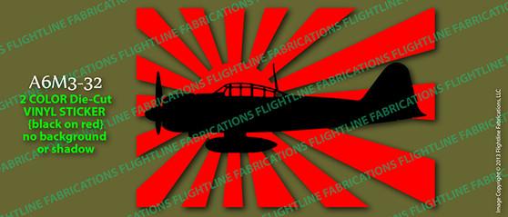 Legend Flyers A6M3 32 Japanese Zero Vinyl Die-Cut Sticker / Decal LFJZA2