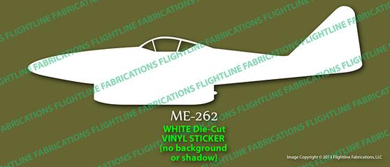 Legend Flyers Messerschmitt Me 262 Schwalbe PROFILE Vinyl Die-Cut Sticker / Decal LFMEP