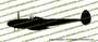 WWII Fighter P-38 Lightning Profile Vinyl Die-Cut Sticker / Decal VSP38P