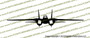 Grumman F-14 Tomcat FRONT Vinyl Die-Cut Sticker / Decal VSFF14