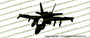 McDonnell Douglas F/A-18 F-18 Hornet ACTION v2 Vinyl Die-Cut Sticker / Decal VSAF18V2