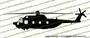 HH-3F Pelican Helicopter PROFILE Sticker Vinyl Die-Cut Sticker / Decal VSPHH3F