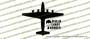 Douglas C-54 Skymaster Berlin Candy Bomber - Gail Halvorsen Vinyl Die-Cut Sticker / Decal VSTC54GH