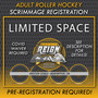 ADULT Roller Hockey game (Silver/Bronze) Sat., July. 25 4:00-5:00pm
