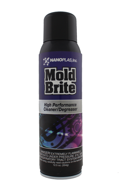 Mold Brite™'s quickly evaporating chemistry pulls residue, oils, dirt, and grit from the pores of the metal, and eliminates bleeding these contaminants into hard-to-reach areas of the mold.