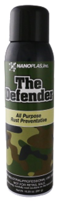 The Defender™ is a semi-dry, dual purpose rust preventative. It's semi-dry properties allow for longer lasting protection without causing bleed through. It's acid vapor neutralizer additive protects against PVC and other corrosive materials. The addition of a green dye indicator helps show the coverage while avoiding over spray on the mold.