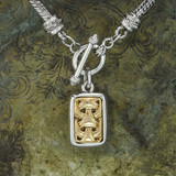 vintage-yellow-and-white-gold-tone-pendant-necklace