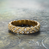 vintage-wedding-band-yellow-gold-plated-clear-swarovski-crystals