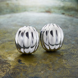 vintage-clip-earrings-white-gold-tone-dome-design