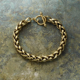 vintage-brushed-gold-tone-braided-link-bracelet