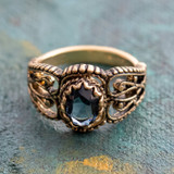 vintage-sapphire-swarovski-crystal-ring-antiqued-yellow-gold-plated