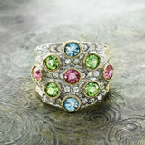 vintage-pave-pastel-multicolored-crystals-clear-swarovski-crystal-ring-yellow-gold-plated